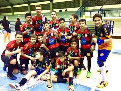 ca7978fb08 Tiradentes vence Vivaz e fica com o título do Estadual de Futsal Sub 13